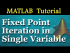 Fixed Point Iteration in Single Variable