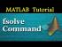 Using MATLAB command fsolve