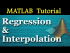 Overview of Regression and Interpolation