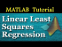 Linear Least Squares Regression