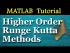 Higher Order Runge Kutta Methods