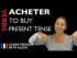Acheter (to buy) — Present Tense