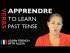 Apprendre (to learn) — Past Tense