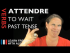 Attendre (to wait) — Past Tense