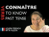 Connaître (to know) — Past Tense