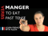 Manger (to eat) — Past Tense