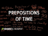 Prepositions of time | The parts of speech