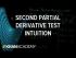 Second partial derivative test intuition