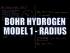 Bohr Hydrogen Model 1: Radius