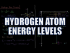 Hydrogen Atom Energy Levels