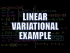 Linear Variational Example