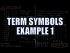 Term Symbols Example 1
