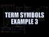 Term Symbols Example 3