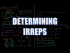 Determining Irreps