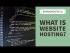 What is website hosting