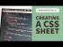 Creating a CSS sheet in Dreamweaver CC