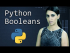 Python Booleans