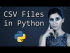 CSV Files in Python