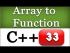 Passing an Array to a Function in C++