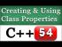 Class Properties, Methods, Members in C++