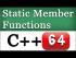 C++ Static Methods in Classes
