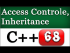 C++ Access Control and Inheritance