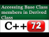 Changing Access Level of Base Class Members in Derived Class