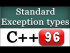 Available C++ Standard Exception Classes