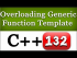 Overloading Generic Function Template