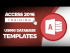 How to Use Database Templates with Access 2016