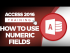 How to Use Numeric Fields in Microsoft Access 2016