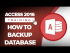 How to Backup a Microsoft Access 2016 Database