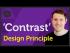 'Contrast' Design principle of Graphic Design