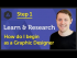 'Learn & Research' How do I begin as a Graphic Designer?