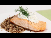 Salmon Fillets with Creamy Cucumber Dill Sauce Recipe (Episode 803)