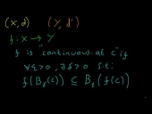 Continuity of Functions Between Metric Spaces (Part 1)
