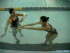 Practicing the Breaststroke Arm Movement in Water