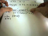 Calculating Limits by Multiplying by a Conjugate