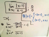 Calculating Limits Involving Absolute Value