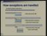 Processor Design Exception Handling
