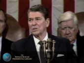 President Reagan's State of the Union speech on February 4, 1986