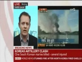 North and South Korea fire artillery shells across their tense western sea border (23.11.2010)