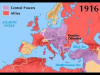 World War One Map (1914-1918)