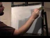 Applying base white medium on wet technique